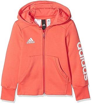 adidas Essentials 3-Streifen Mid Kapuzenjacke Mädchen Jacke, Eascor White,  110 5527f25160