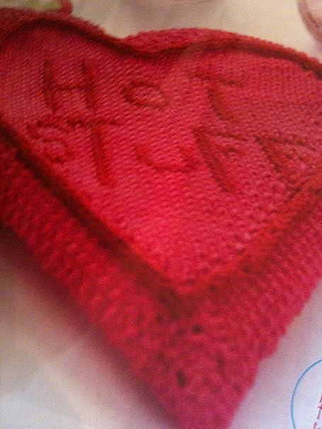 Hot Stuff Heart Shaped Hot Water Bottle Cover Knitting Pattern