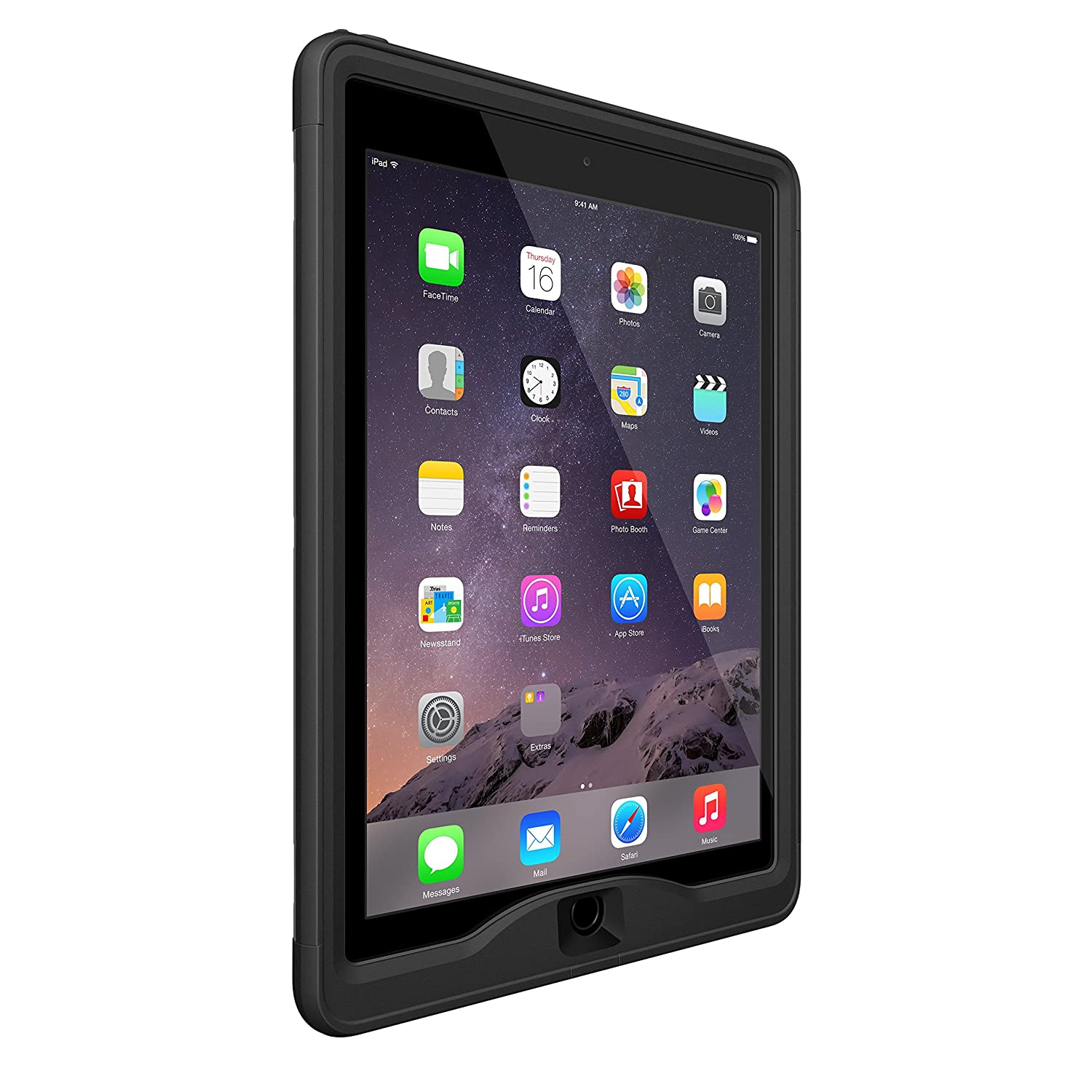 promo code cd265 7c1c0 LifeProof NÜÜD SERIES iPad Air 2 Waterproof Case - Retail Packaging - BLACK