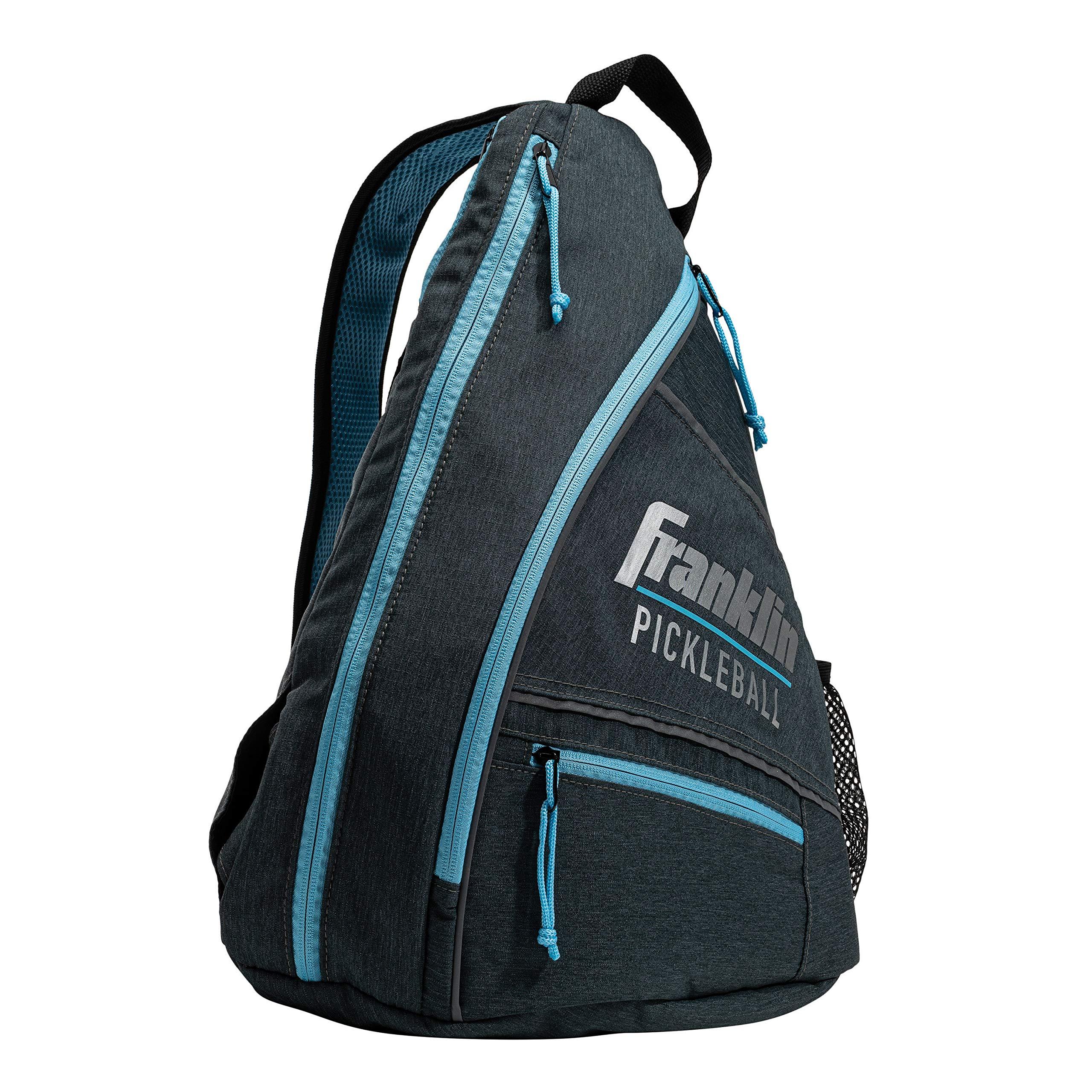 Franklin Sports Pickleball Sling Bag - Official Pickleball Bag of The U.S. Open Pickleball Championships - Adjustable - Gray/Blue by Franklin Sports