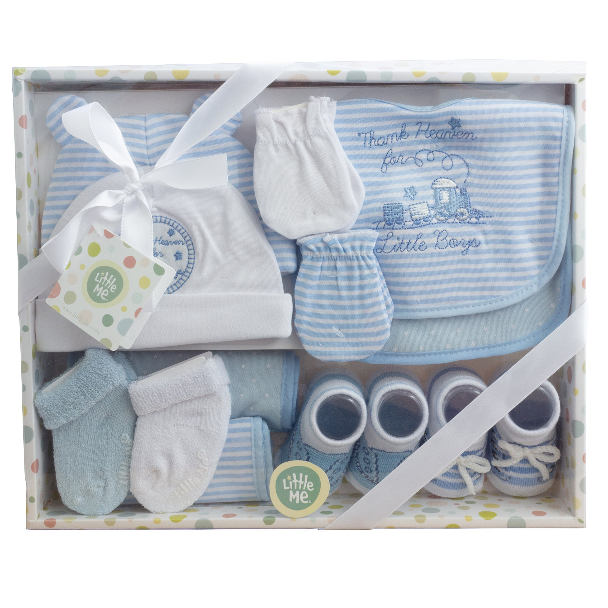 Little Me 12 Piece Newborn Baby Gift Set for Boys- Great Baby Shower or Registry Gift Box to Welcome a New Arrival - All the Essentials