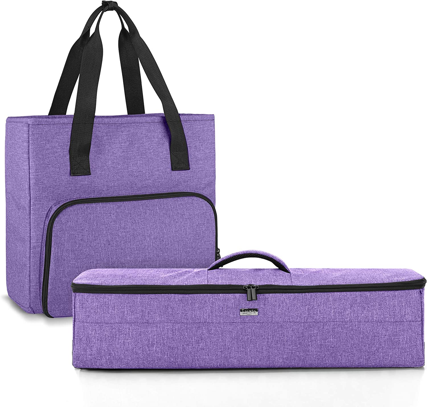 Luxja Tote Compatible with Cricut Accessories (with a Die-Cut Machine Cover), Carrying Bag Compatible with Cricut Supplies. (No Accessories Included.), Purple