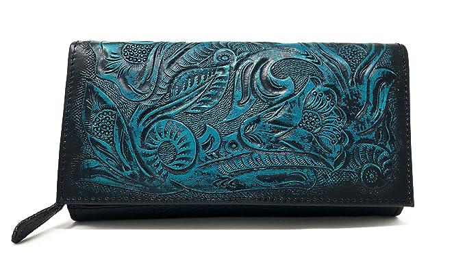 ce2fa6dc0c35 Narita Vintage Floral Artisan Handmade Leather Wallet Designer Gift for  Women