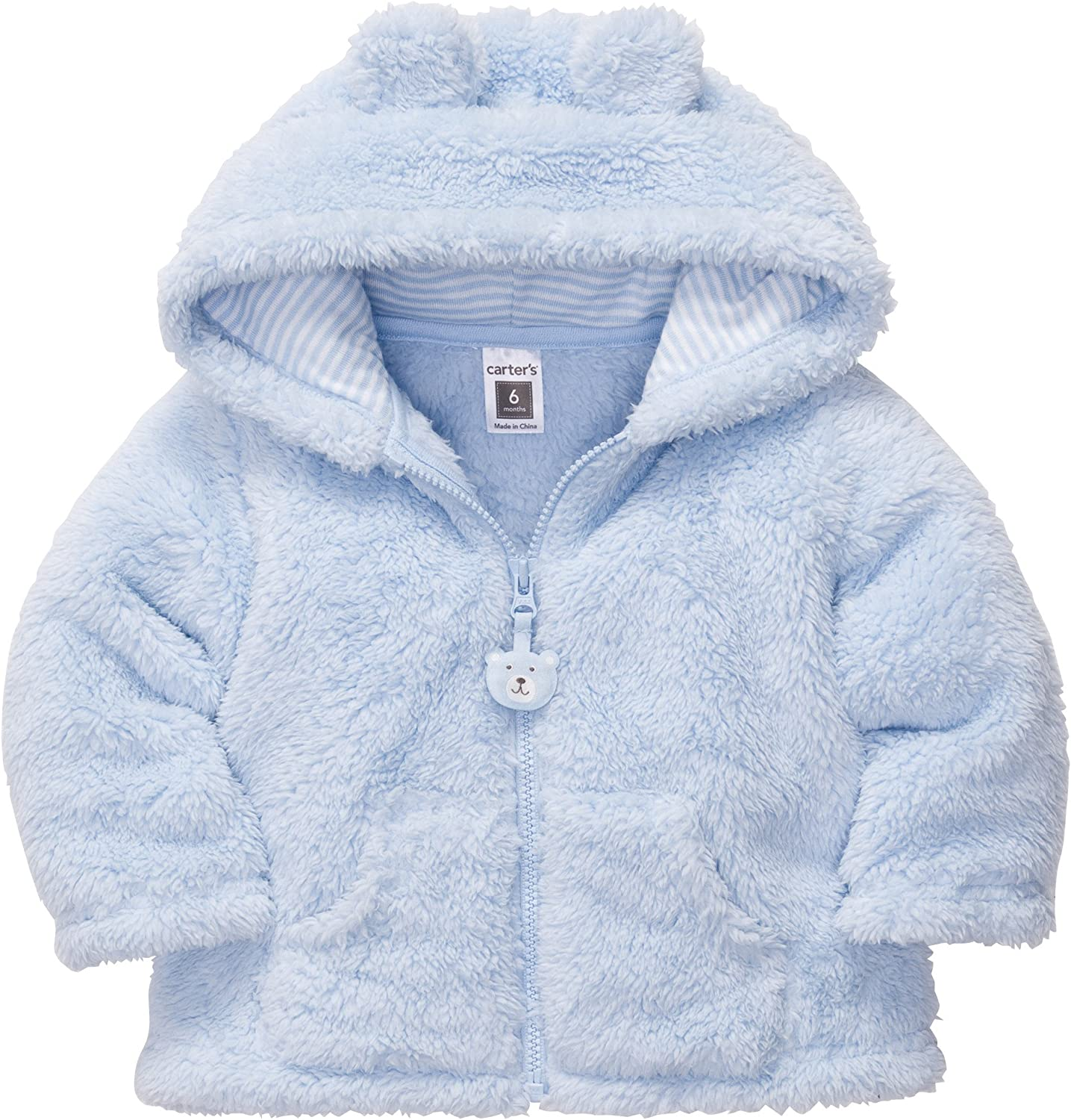 Simple Joys by Carters Baby Boys Hooded Sweater Jacket with Sherpa Lining