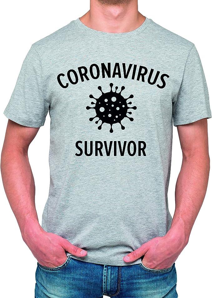 Gonzoo Camiseta Coronavirus Survivor Unisex perfectas para Regalo diseño coronavirus