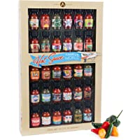 Thoughtfully Gifts, Flavors of the World Hot Sauce Sampler Gift Set, Inspired by International Hot Sauce Flavors, Set of…
