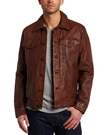 Levi's Men's Leather Classic Trucker Jacket by Levi's