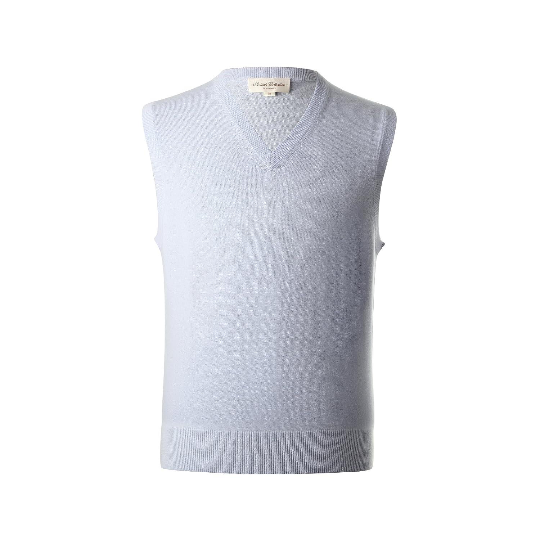 Lona Scott Men's Pure Cashmere Sweater Sleeveless Vest Plain