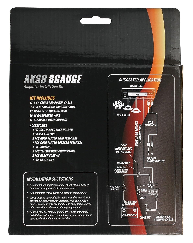 Amazon.com: Sound Storm AKS8 8 Gauge Amplifier Installation Wiring ...