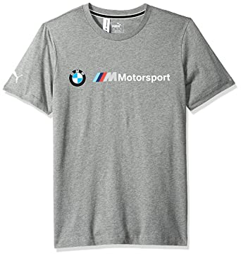 abeadf63 PUMA Men's BMW Motorsport Logo Tee, Medium Gray Heather S