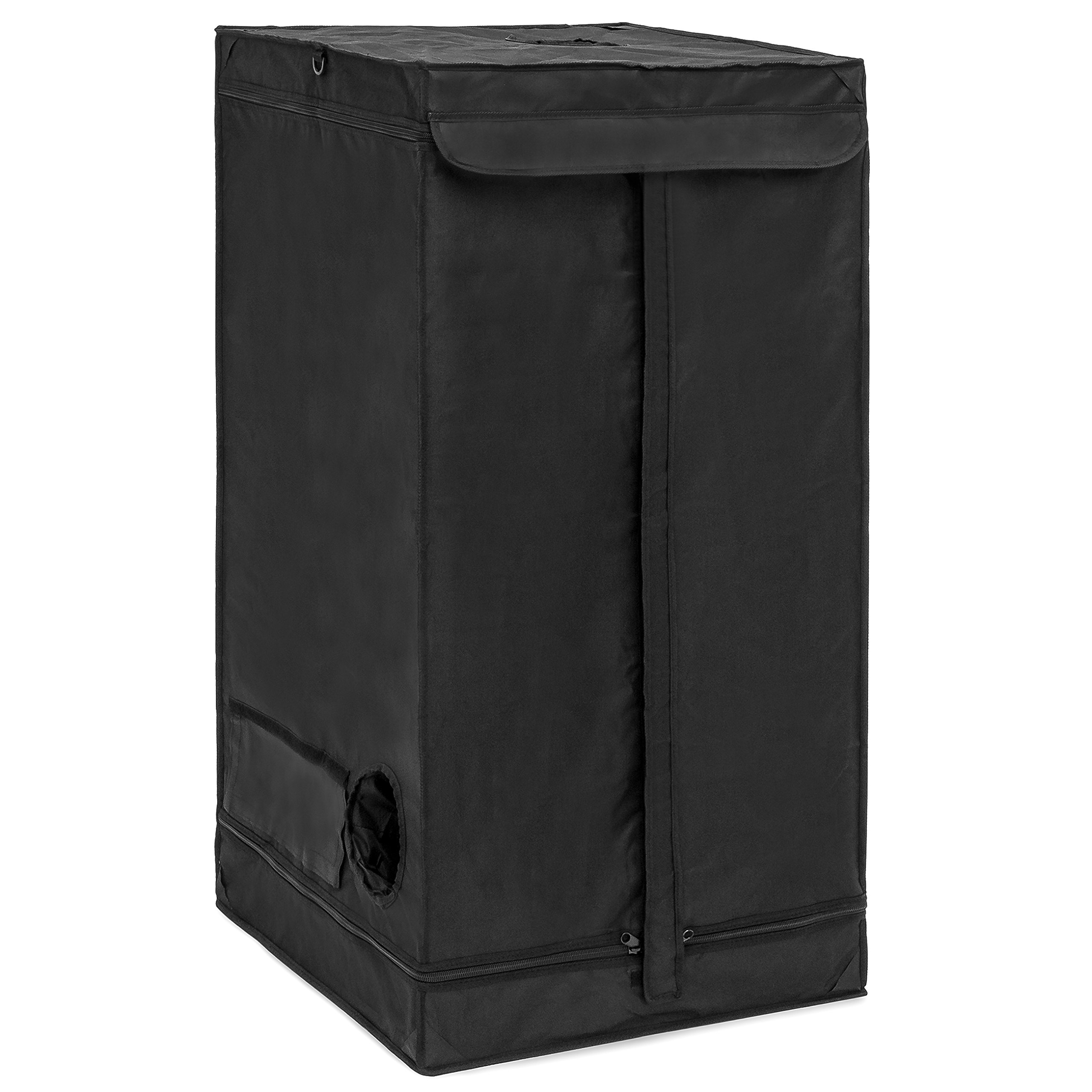 Best Choice Products Mini Greenhouse Heavy-Duty Insulated Hydroponics Grow Tent (Black)