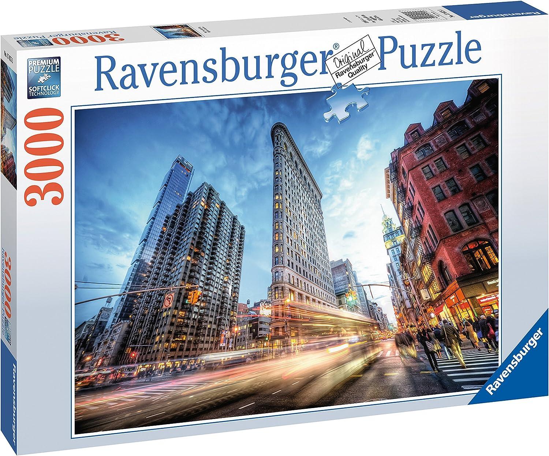 Ravensburger Flat Iron Building Puzzle - Rompecabezas (Puzzle Rompecabezas, Edificios, Niños y Adultos, Flat Iron Building, Niño/niña, 14 año(s))