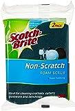 Scotch-Brite Non Scratch Urethane Scrub Sponge, 2pc, Blue