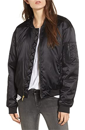 Image Unavailable. Image not available for. Color  The North Face Women s  Barstol Neoprene-Trimmed Bomber Jacket Black Large d42c1becb