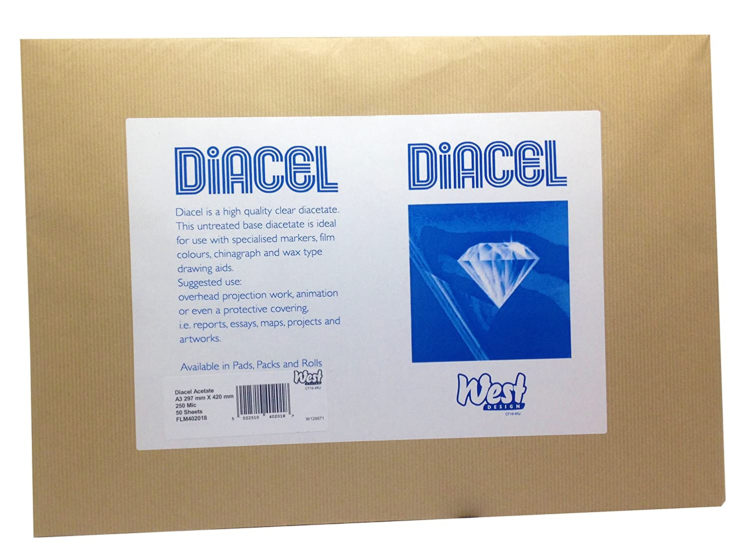 Diacel Crystal Clear Diacetate Film Pad A4