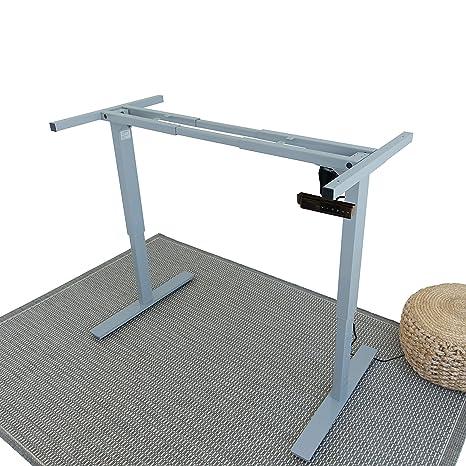Peachy Ergo Elements Electric Height Adjustable Stand Up Desk Frame Workstation Programmable Ergonomic Standing Base Grey Download Free Architecture Designs Sospemadebymaigaardcom