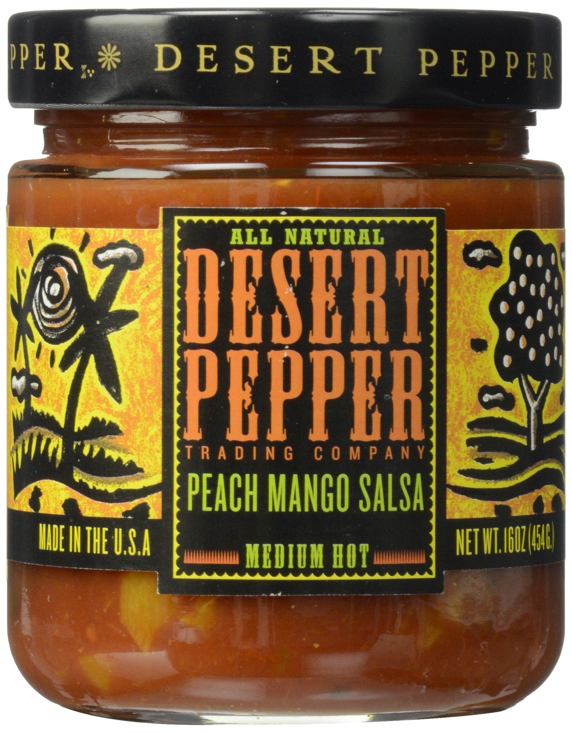 Desert Pepper, Mango Peach Salsa, 16 oz by Desert Pepper