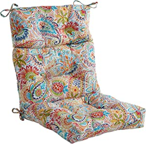 South Pine Porch Outdoor Jamboree Paisley High Back Chair Cushion