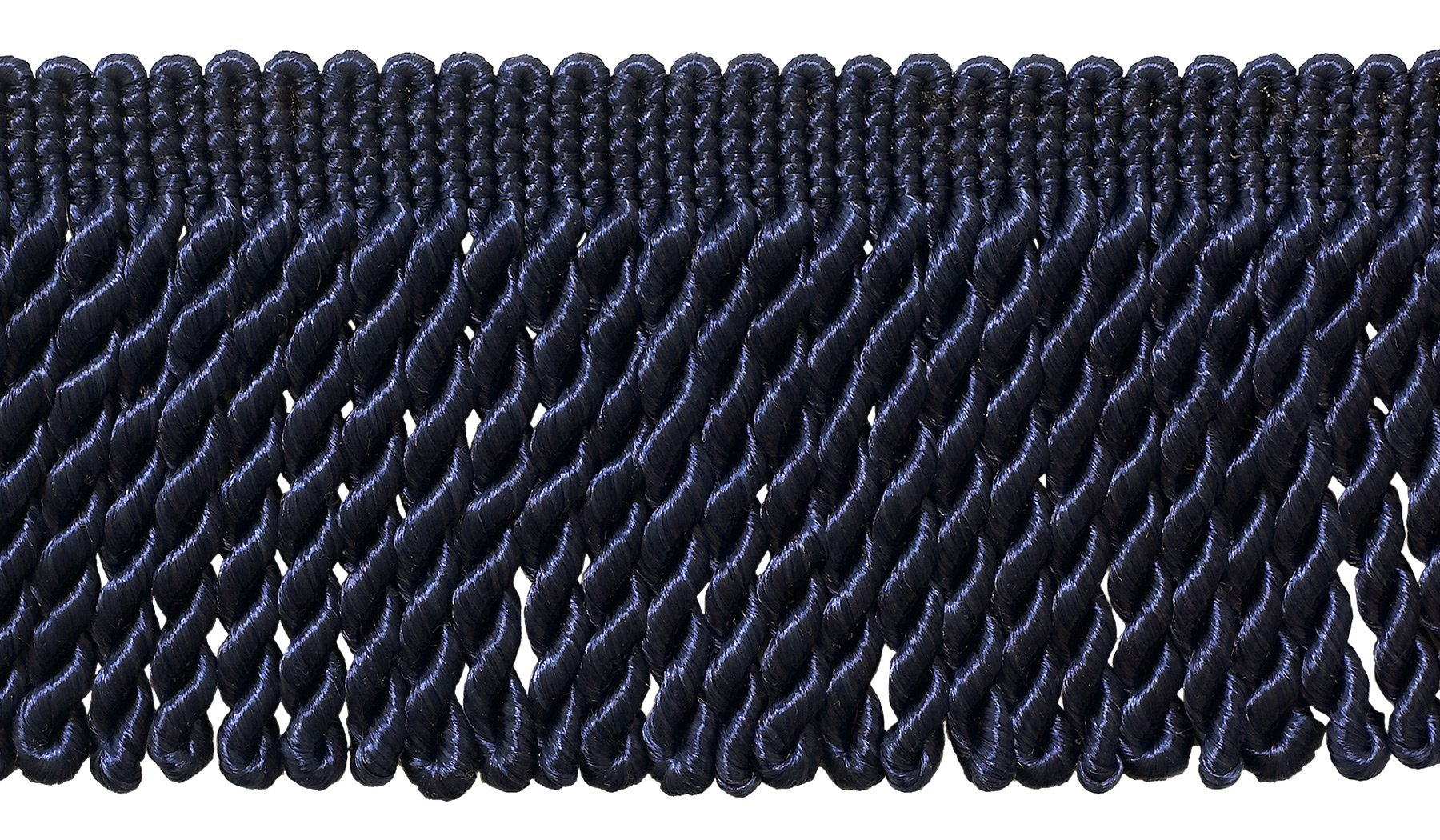 DÉCOPRO 7 Yard Value Pack - 3 Inch Long Dark Navy Blue Bullion Fringe Trim, Style# BFS3 Color: J3 (21 Ft / 6.4M) by DÉCOPRO
