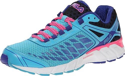 Fila Dashtech - Zapatillas de correr para mujer, (Atolón azul/azul ...
