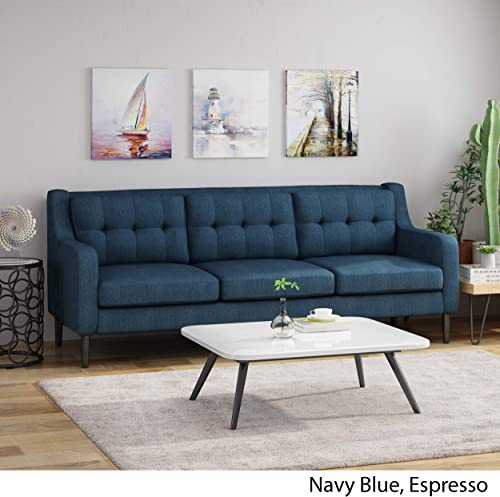 Nicole Tufted Fabric 3 Seater Sofa