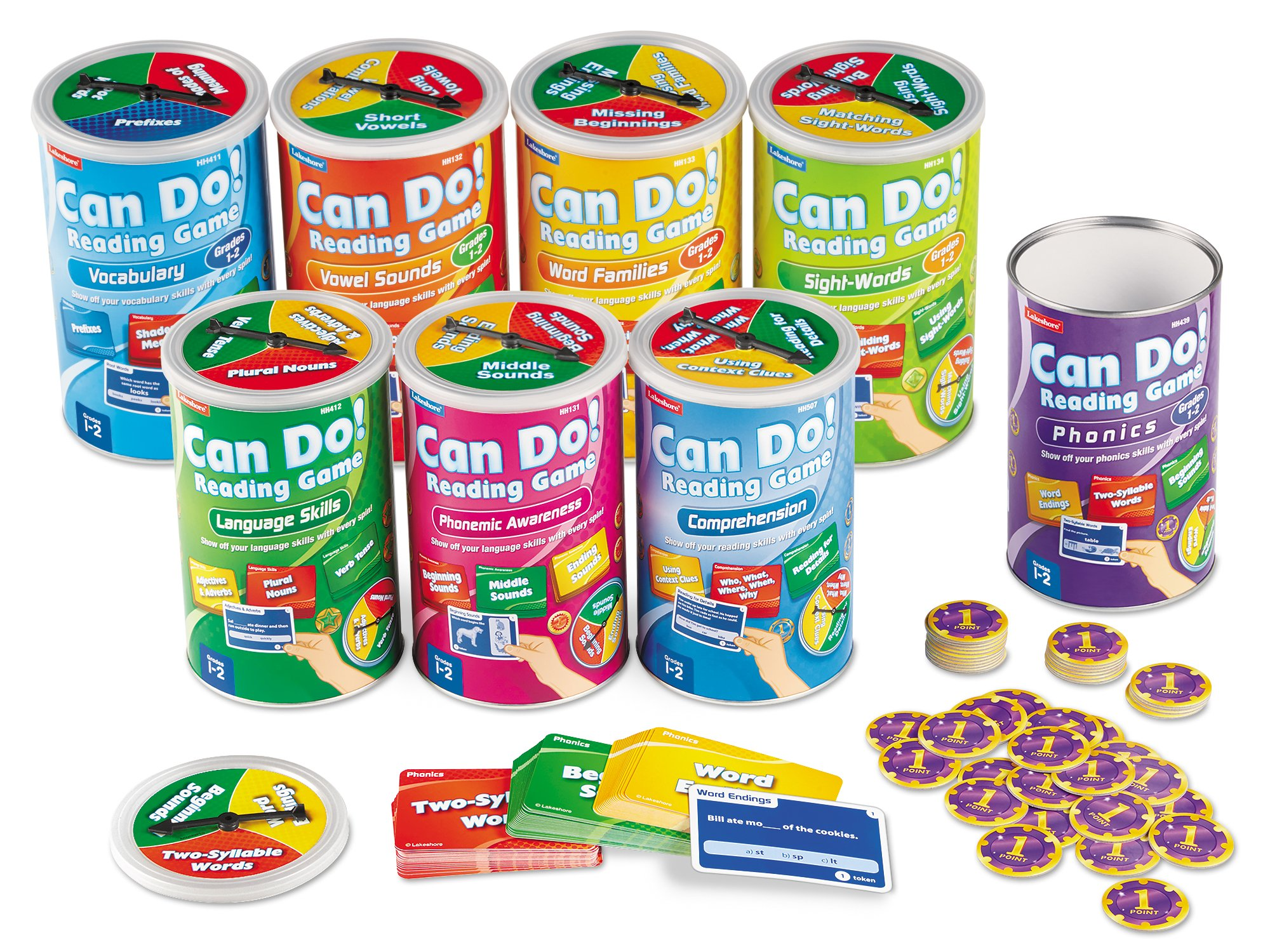 Lakeshore Can-Do Reading Games - Set of 8