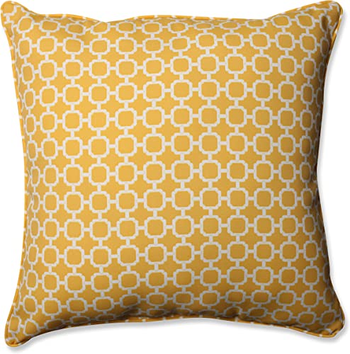 Pillow Perfect Outdoor/Indoor Hockley Banana Floor Pillow