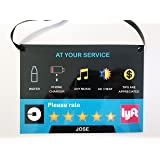 (Set of 2) Uber Lyft 5 Star Ratings Sign - Custom Messages and Made with Your Name v2
