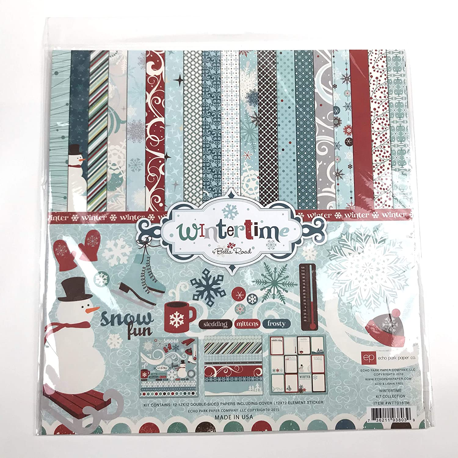 Wintertime Collection Scrapbooking Kit by Bella Road WT7016TM Echo Park Item #