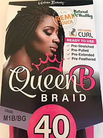 Amazon Com Queen B Braid Pre Stretched 40 Inches Color 1b Off