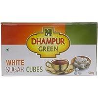 Dhampur Green Sugar Cubes - White, 500g Carton