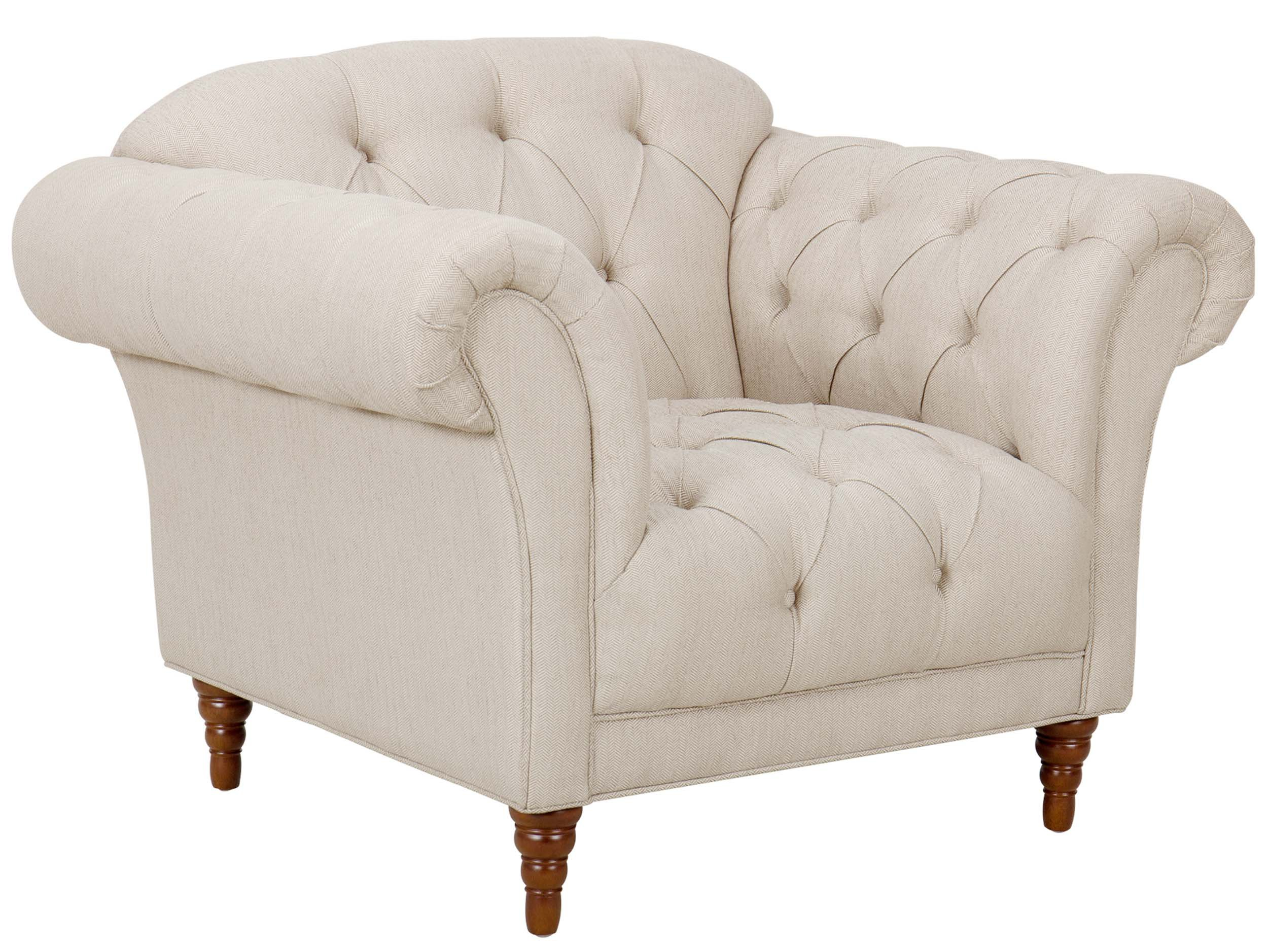 Homelegance St. Claire Style Armchair with Tufting and Rolled Arm Design, Brown/Almond