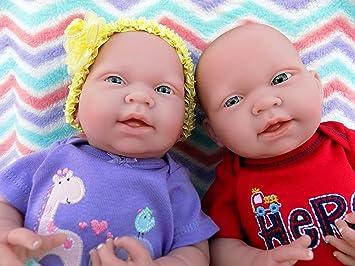 "Reborn Twin Babies Boy /& Girl Doll Preemie 15/"" Inch Washable Berenguer LifeLike"