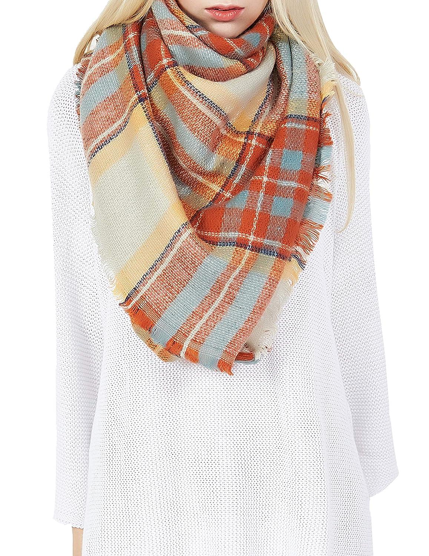 DiaryLook Fashionable Winter Warm Large Tartan Blanket Plaid Scarf Wrap Shawl BL14121-10B