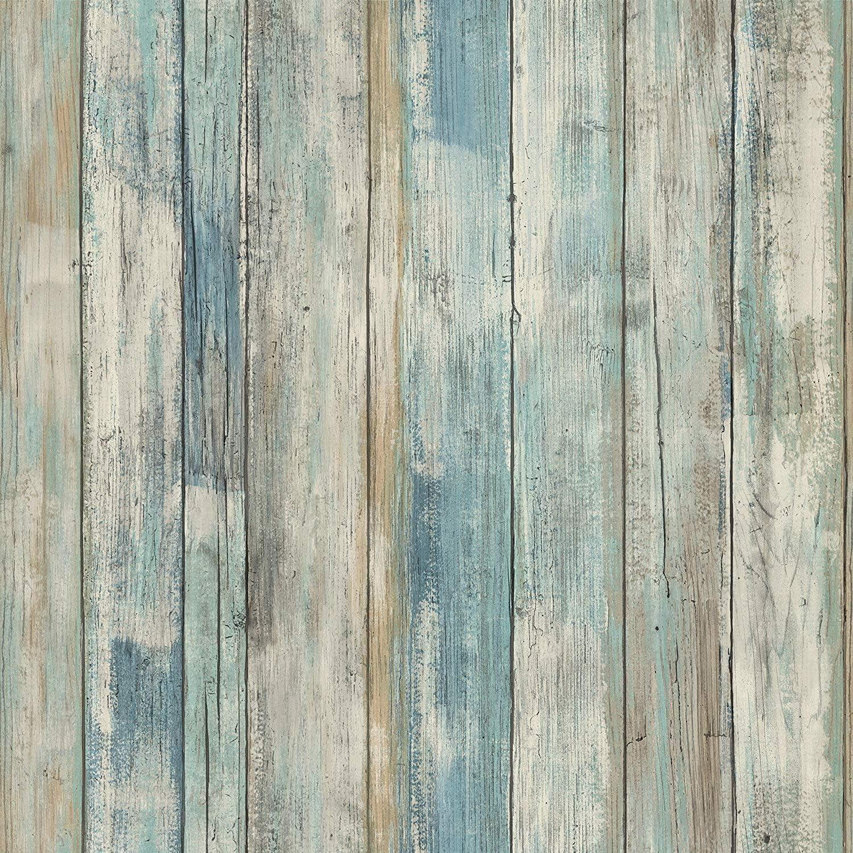 Papel Adhesivo para Muebles Azul Madera 30cmX2m Impermeable Papel Pintado Autoadhesivo Pared Decorativo PVC Vinilos para Muebles Película para Dormitorio Armarios
