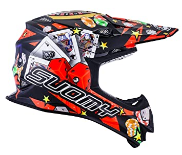 Suomy Casco Motocross MR Jump Jackpot, Multicolor (Jackpot Black), M
