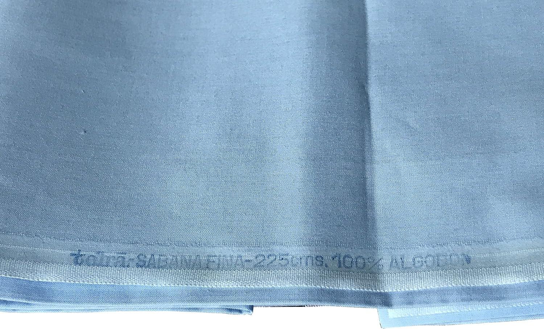 Tela de Sábana Fina de Viuda de TOLRÁ por Metros. 100% Algodón. Incluye una Pieza de 290 x 225 cm, para confeccionar Sábana Encimera, y otro de 90 x 225 cm, para Almohada. Ideal para cama de 1,50m.