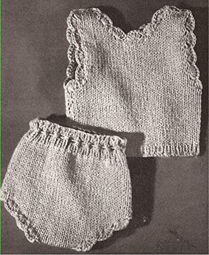 Amazon Com Vintage Knitting Pattern To Make Knitted 18 Doll Vest