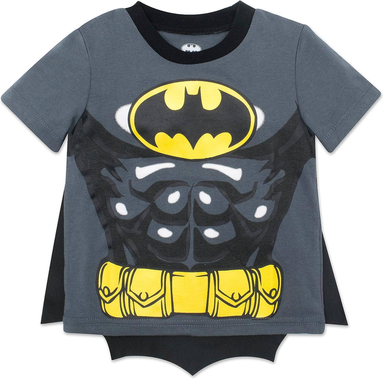 DC Comics Camiseta de Manga Corta de Batman con Capa - Disfraz Friki Divertido para Niños, Grey 3 Años: Amazon.es: Ropa y accesorios
