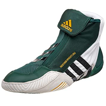 adidas Men's Response Wrestling Shoe,Green/Black/White,12 ...