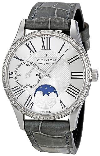 Zenith Mujer 16.2310.692/02.c706 Elite Lady Ultra Delgado Moonphase Dial reloj: Zenith: Amazon.es: Relojes