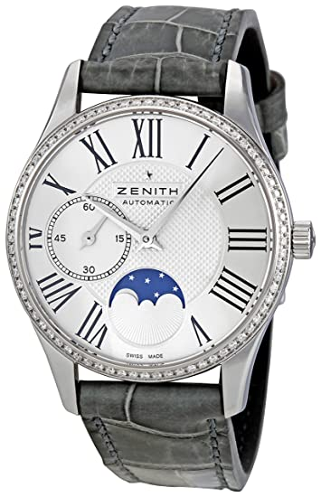 Zenith Mujer 16.2310.692/02.c706 Elite Lady Ultra Delgado Moonphase Dial reloj