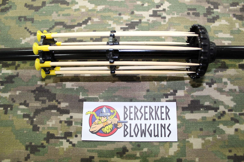 Black from Berserker Blowguns 48 - .40 Cal Blowgun Thor with 34 Darts 2 Piece