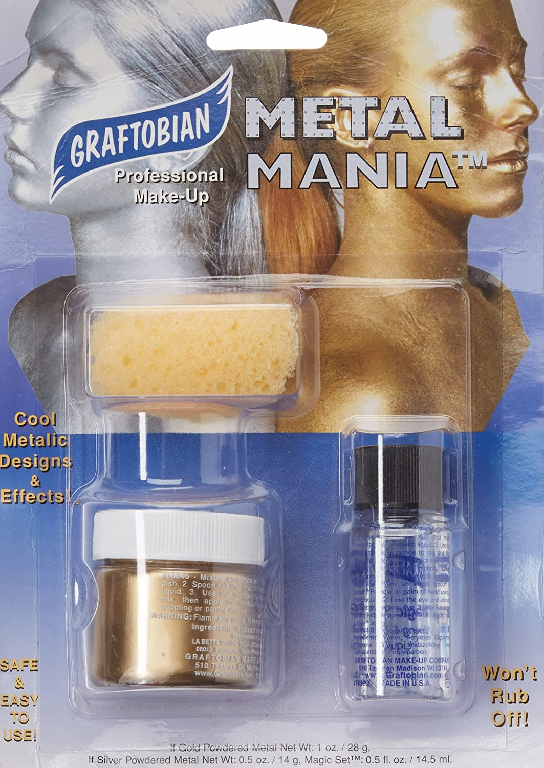 Graftobian Metal Mania Kit - Gold 98648
