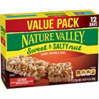 Nature Valley Cashew Sweet & Salty Nut Granola Bars 12 Piece Box, 14.8 Ounce
