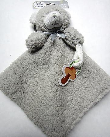 Amazon.com: Fuzzy y suave oso de peluche gris manta de ...