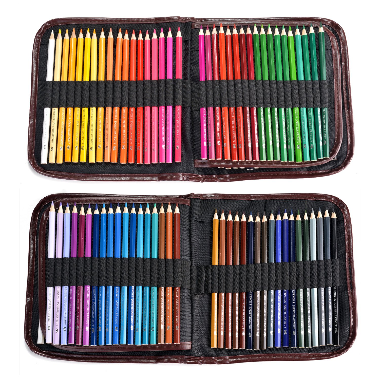 AGPtEK 72 PCS Colored Pencils Set with Foldable Bag, Fine Art Pre-Sharpened Drawing Pencils with 72 Oil Based Assorted Colors & Anti-Fracture for Coloring Books Drawing Writing Sketching Doodling