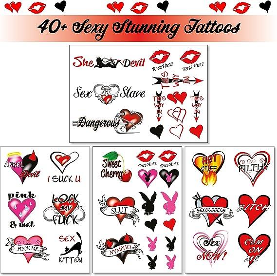 40+ Sexy tatuajes temporales traviesos para mujeres Damas ...