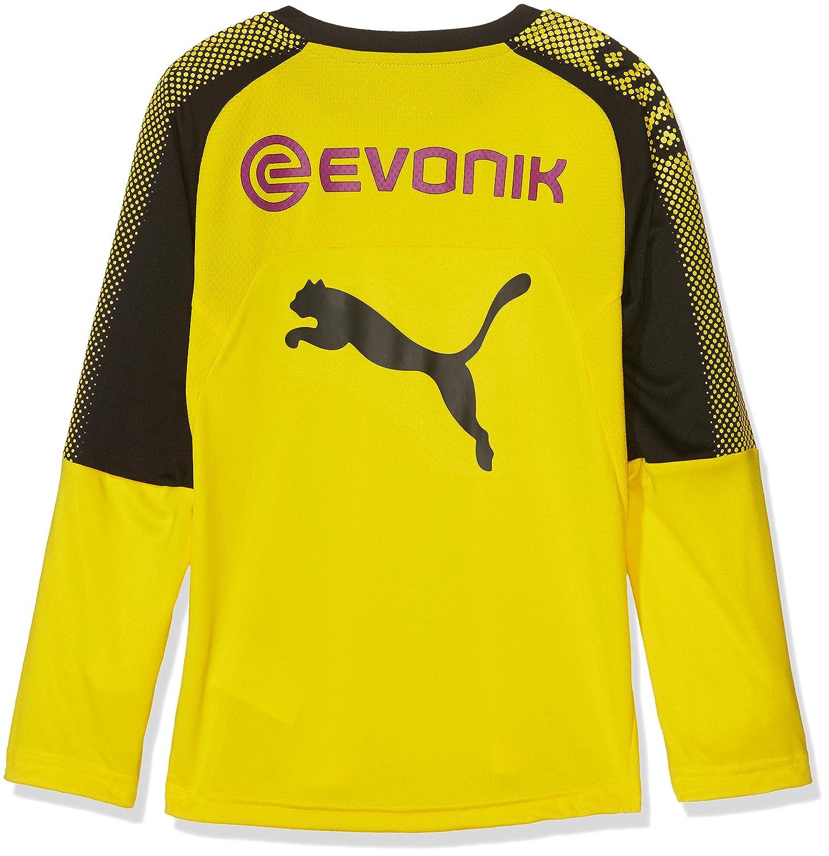 Puma Kinder BVB Ls Training Jersey with Sponsor T-Shirt Logo T-Shirt Sponsor 72aae6