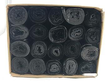 500 schwarze Müllbeutel HDPE 35 l 69 cm x 55 cm Mülltüten Müllsäcke Abfallsäcke